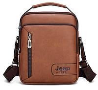 Мужская сумка-барсетка JEEP с ручкой. Сумка-messenger, сумка через плечо Cross Body.