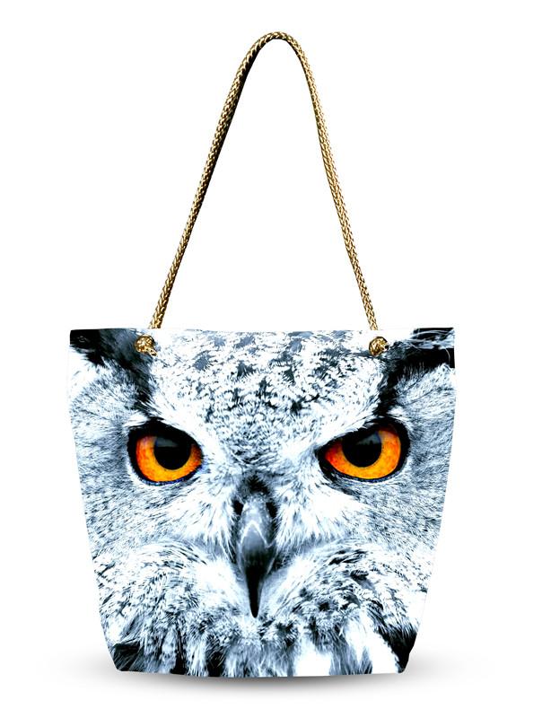 Женская сумка с 3D рисунком Филин