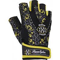 Перчатки для фитнеса и тяжелой атлетики Power System Classy Женские PS-2910 M Black/Yellow, фото 1