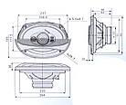 Динамики для авто акустика Pioneer овалы колонки, фото 3