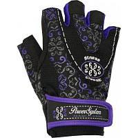 Перчатки для фитнеса и тяжелой атлетики Power System Classy Женские PS-2910 XS Black/Purple, фото 1