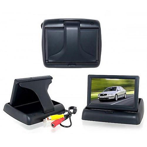 Автомобильный монитор 4,3'' складной с 2-мя видеовыходами для камеры заднего вида