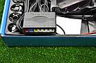 Парктроник на 4 датчика PS-201 Серебро/Черный/Белый, фото 4