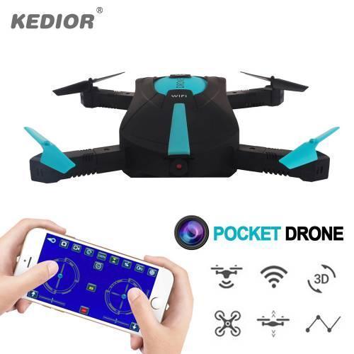 Квадрокоптер селфи-дрон складной JY018 с WiFi камерой