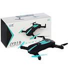 Квадрокоптер селфи-дрон складной JY018 с WiFi камерой, фото 5