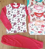 """Пижама детская для девочки 1-4 года """"Зайчик"""", малинового цвета"""