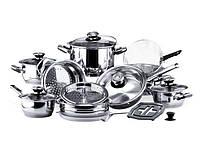Набор посуды (Набор кастрюль) 23 предмета VINZER 89024 GRAND CUISINE GLASS