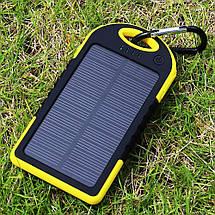 Солнечная батарея SOLAR CHARGER yd-t011g/y PowerBank, ударопрочная, заряжает одновременно два телефона, фото 3
