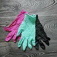 Зеленые Нитриловые перчатки для кондитеров (размер M) (упаковка 5 пар)