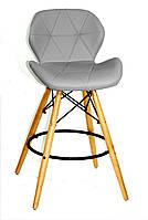 Полубарный стул Invar, светло-серый