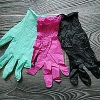 Розовые Нитриловые перчатки для кондитеров (размер M) (упаковка 5 пар)