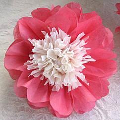 Бумажные цветы из тишью маленькие 15 см