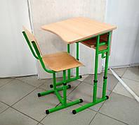 Комплект (парта одноместная + стул) школьной мебели регулируемый на р.г. №4-6, фото 1