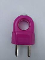 Вилка электрическая прямая плоская с кольцом удароустойчивая 10А GAV 461