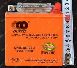 Аккумулятор 12V 5Аh гелевый (115x55x125, c датчиком, mod:12N5L-BS  OUTDO