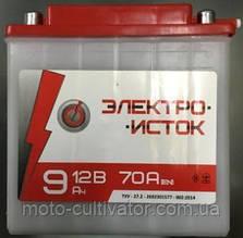 Аккумулятор  12V 9А МОТО  МТ  ИЖ   Электро-исток 140x75x140