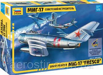 """MiG-17 """" Fresco"""" 1/72 Zvezda 7318"""