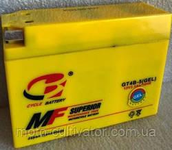 Аккумулятор YT4B-BS 12V/2.3Ah узкая таблетка желтая 86x38x114