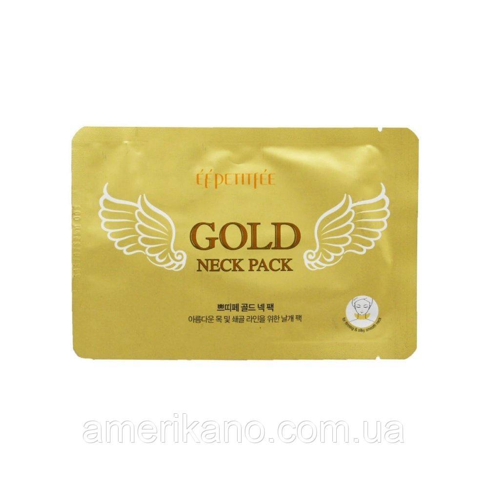 Гидрогелевые патчи с золотом для шеи PETITFEE Gold Neck Pack, 5 мл