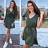 Женское оригинальное платье с накидкой в расцветках. БЛ-8-0619, фото 4