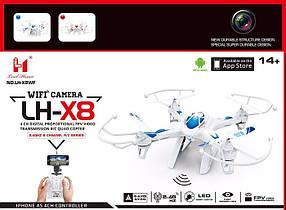 Квадрокоптер LH-X8, 33cm, WIFI HD камера, 360, возврат
