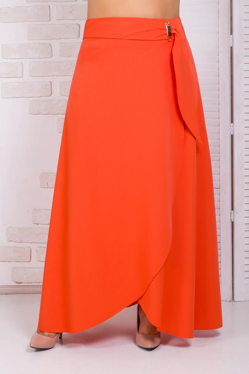 Нарядная длинная юбка с запахом 44-52 р