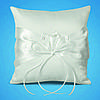 Подушечка для обручок з білою стрічкою