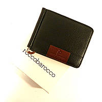 Купюрник-зажим кожаный для денег магнитный RoccoBarocco 5180, с монетницей., фото 1