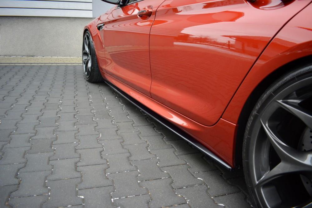 Боковые диффузоры порогов юбка сплиттер тюнинг BMW M6 Gran Coupe F06
