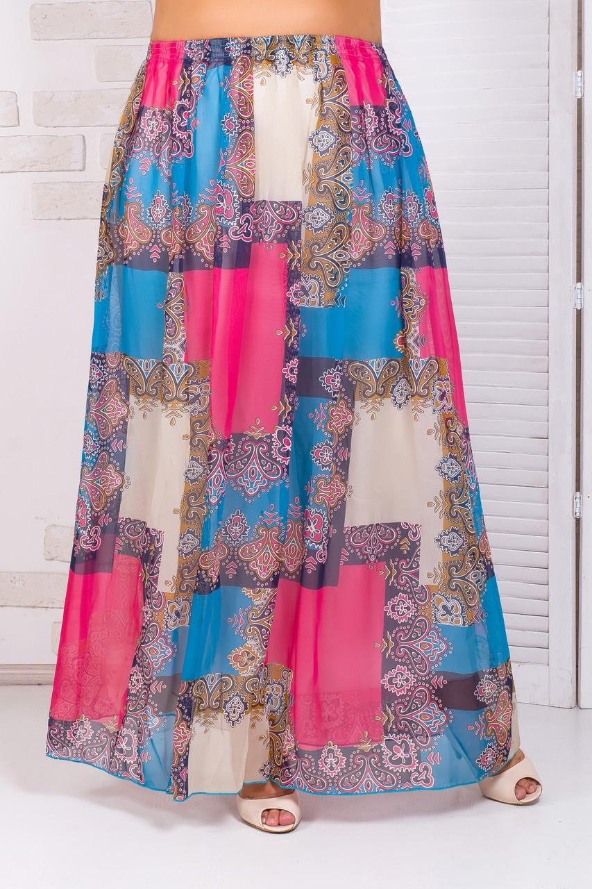 Шифоновая юбка 42-50 р