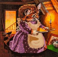 Набор для вышивания бисером FLF-050От кошки для мышки30*30 Волшебная страна качественный