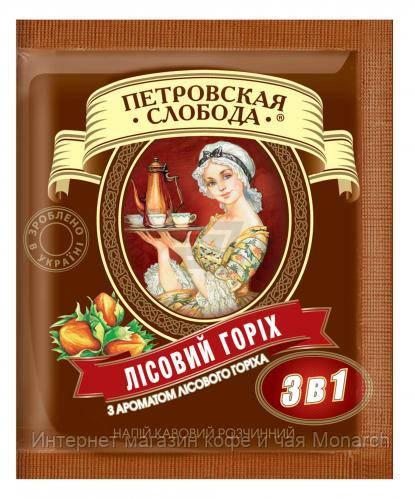"""Кофе расстворимый """"Петровская слобода"""" 3в1 лесной орех 20 г х 25 шт"""