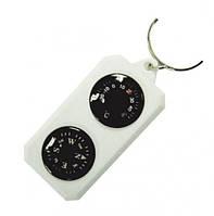 Компас-брелок сувенирный с термометром Sol SLA-003 Черный / Белый (SLA-003)