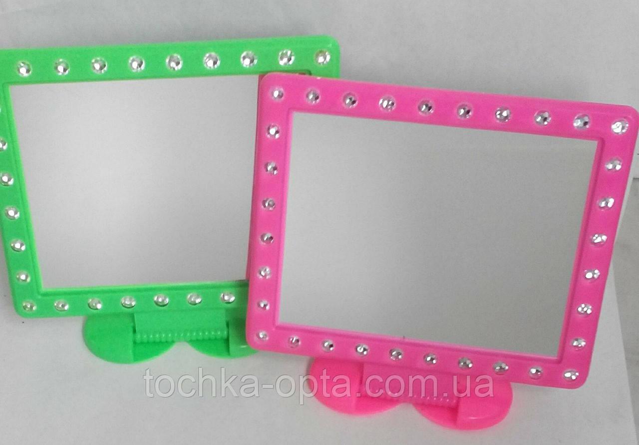 Зеркало квадратное с имитацией страз большое