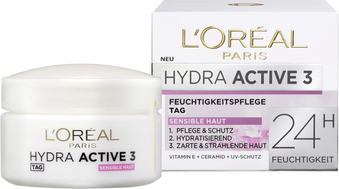 Дневной крем для сухой и чувствительной кожи L'ORÉAL PARIS Hydra Active 3, 50 мл.
