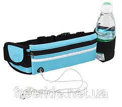 Бананка / поясная сумка спортивная повседневная водоупорная под бутылку, фото 3