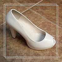 Женские туфли Hongquan L-10 француз беж лак, 37