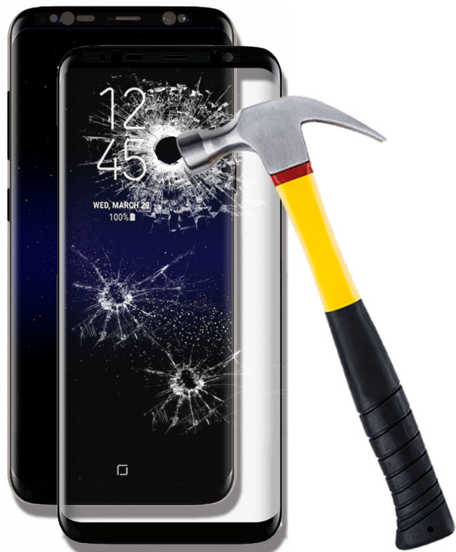 Защитное стекло с рамкой 5D Frame для Samsung A205/A505 0.30 мм