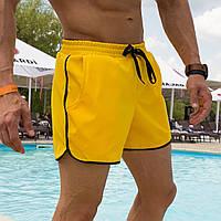 Шорты пляжные мужские Classic желтые   Плавательные шорты плавки летние   Купательные шорты ТОП качества