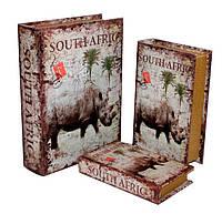 "Набор шкатулок  ""Сафари"" книга тайник в твердом переплете, набор 3 шт"