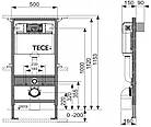 Установочный модуль TECE base 4 в 1 c клавишей Base + унитаз Flaminia APP Goclean Slim, фото 5