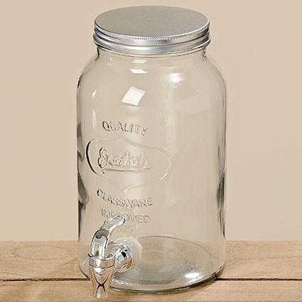 Ёмкость с краником стекло h25см d15см 3 литра 3553400