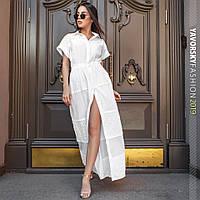 Длинное белое летнее платье в пол  ТМ Yavorsky (Яворски), хлопок