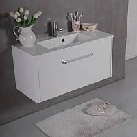 Комплект BALI 90, шкафчик с умывальником торговой марки Fancy Marble. Размер шкафчика 892x395x420
