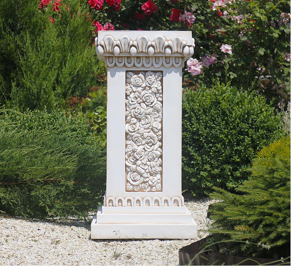 Садовая фигура скульптура для сада Колонна квадратная 76х38х38 см ССК12090 статуя