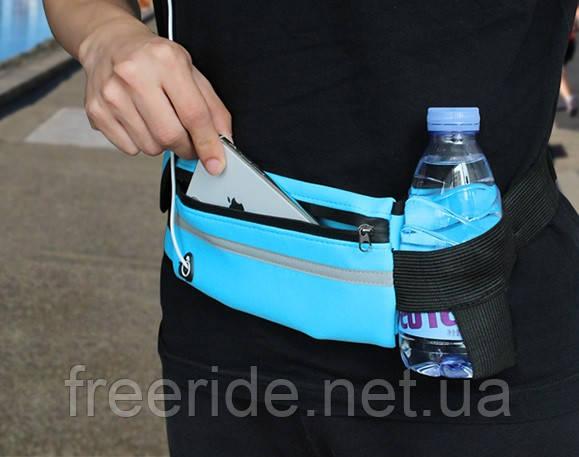 Бананка / поясная сумка спортивная повседневная водоупорная под бутылку