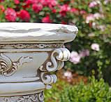 Садовая фигура скульптура для сада Колонна круглая с ангелами 81х40х40 см ССК00003 статуя, фото 2