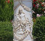 Садовая фигура скульптура для сада Колонна круглая с ангелами 81х40х40 см ССК00003 статуя, фото 3