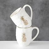 Кружка белая керамика h13см 600мл 1013270 керамическая чашка, фото 2