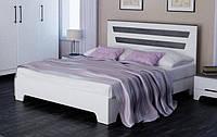 """Кровать """"Элен"""" 160х200 см Белый матовый + Дуб шато, фото 1"""